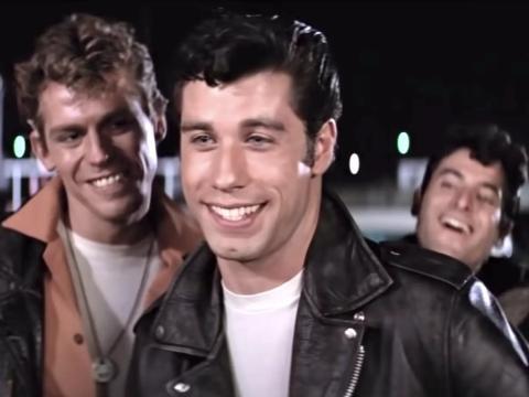 John Travolta en 'Grease'.