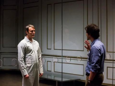 Mads Mikkelsen y Hugh Dancy como Hannibal y Will.