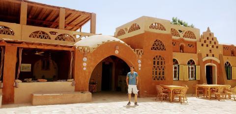 El hotel en el que me alojé en Abu Simbel es una casa nubia con mucho encanto y un precio muy asequible, donde me trataron con una exquisita amabilidad.