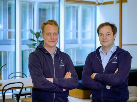 Jean-Charles Velge y Quentin Colmant, cofundadores de Qover.