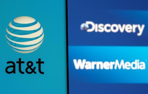 Logotipos de AT&T, Warner Media y Discovery