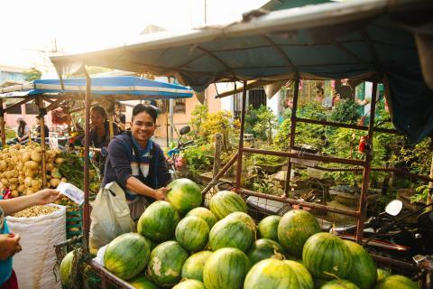 Mercado en Filipinas.
