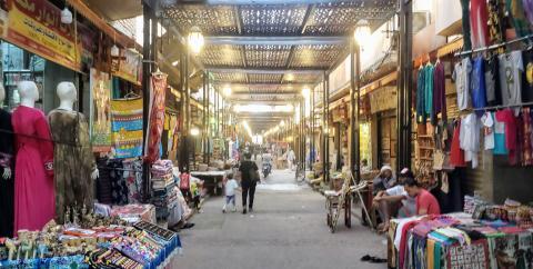 El precioso mercado de Luxor, sin un solo turista extranjero.