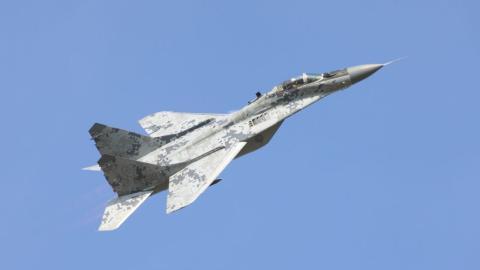 El MiG-29, de diseño soviético, es uno de los aviones de combate utilizados por Pyongyang.
