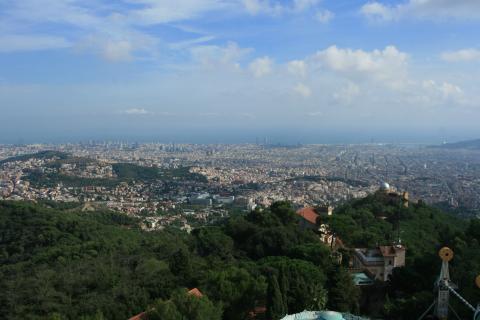 Panorámica de Barcelona desde la zona alta.