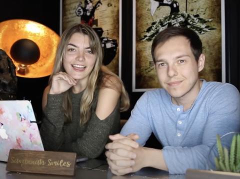 Schmidt y su novio, el creador de YouTube Graham Stephan. Youtube/Savannah Smiles
