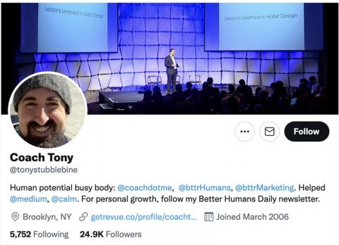Tony Stubblebine, ex director de ingeniería de Twitter.