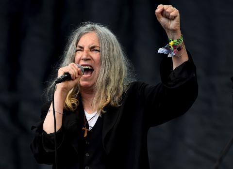 La cantante Patti Smith, durante un concierto.