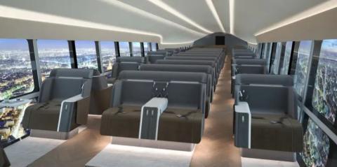 Ilustración del interior del 'Airlander 10'.