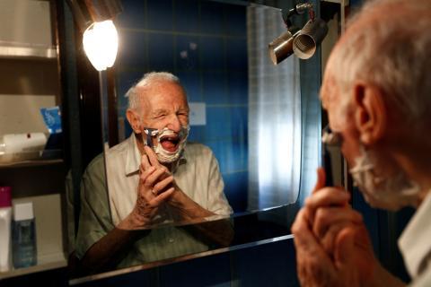 barba afeitado
