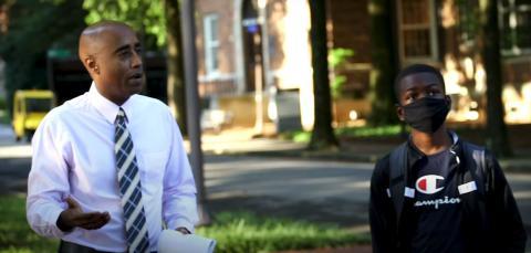 Caleb Anderson en sus primeros días en Georgia Tech.