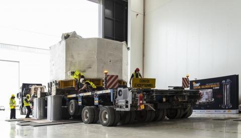 El primer módulo del dispositivo en su llegada al ITER.