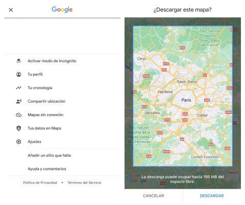Google Mapas offline