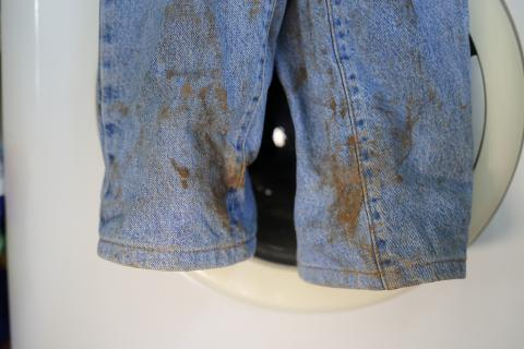 Manchas de óxido en la ropa