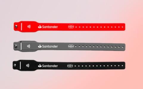 Pulsera de pagos del Banco Santander. Banco Santander