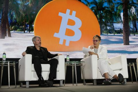 Saylor en la conferencia Bitcoin 2021 de Miami en junio.