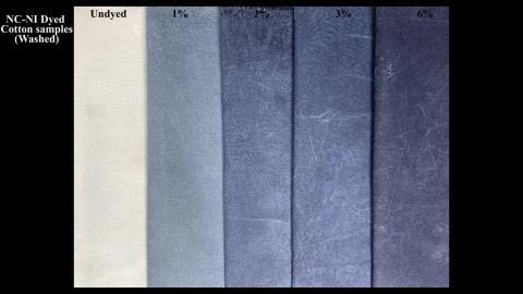 Es posible producir diferentes tonos de azul variando la cantidad de índigo utilizada en el hidrogel.