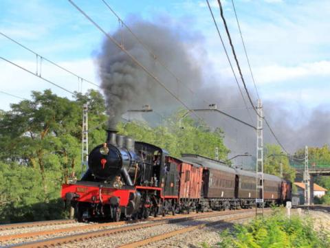 El Tren de la Fresa viaja desde la estación Delicias a Aranjuez.