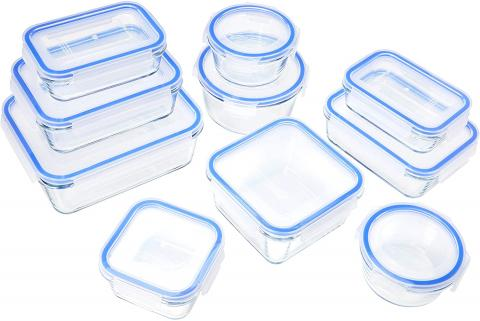 Tuppers de cristal Amazon Basics