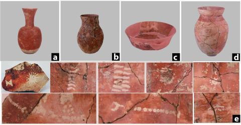 Los tipos de cerámica más representativos recuperados en la localidad china de Qiaotou.