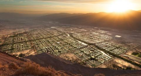 Vista aérea del diseño de Telosa.