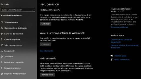 Windows 11 recuperación
