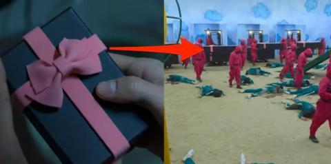 Ambos tienen un exterior gris y un lazo rosa.