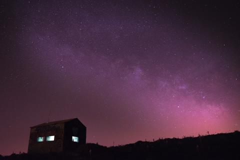 Vista de la Vía Láctea.