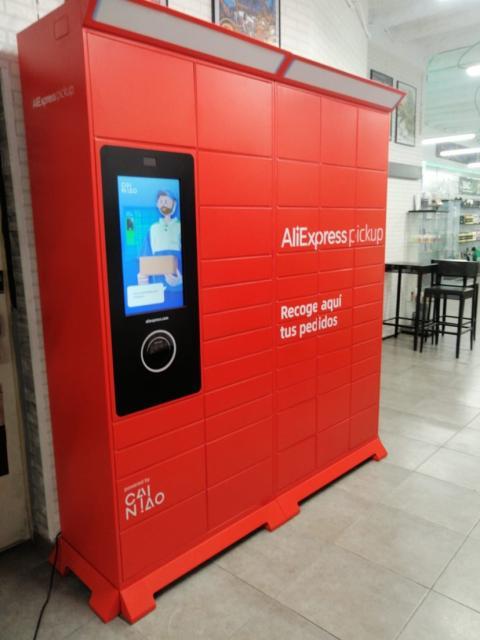Un locker de AliExpress en España