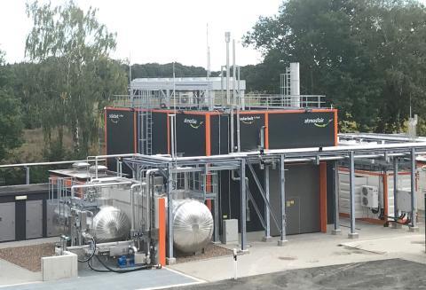 Planta de queroseno sostenible de Atmosfair en Werlte, Alemania.
