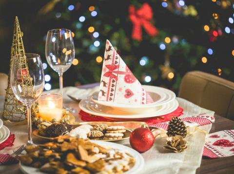 cena navidad mesa bonita