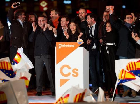 Inés Arrimadas, en la noche electoral del 21D en Barcelona