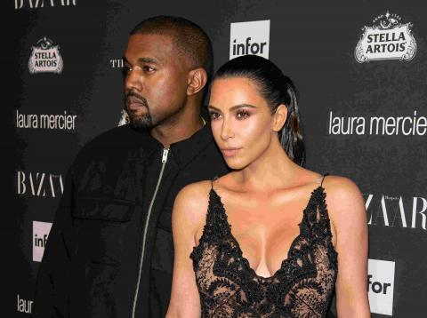 Kim Kardashian Kanye West famosos celebrities