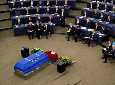 Funeral en el Parlamento Europeo del excanciller alemán Helmut Koh