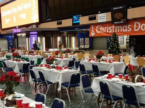 Londres Euston Navidad refugio Network Rails