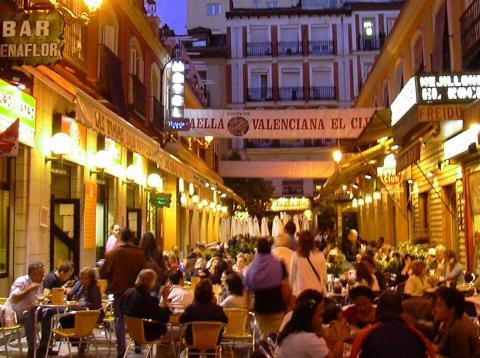 Madrid, barrio de huertas