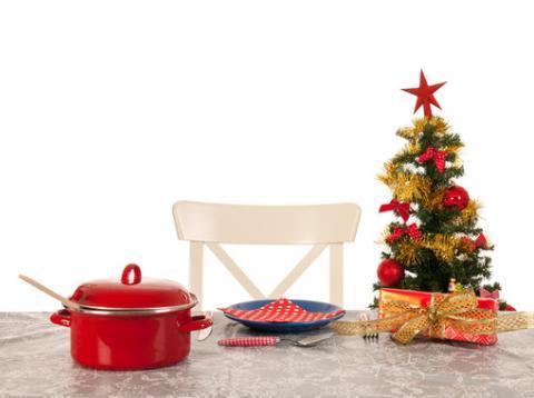 mesa sola navidad
