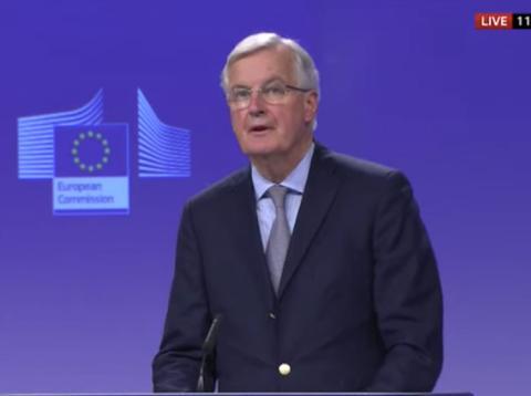 El negociador jefe de la Unión Europea para el Brexit, Michel Barnier