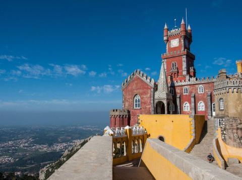 El palacio de Pena en Sintra (Portugal)