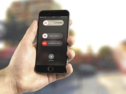 Botón SOS del iPhone