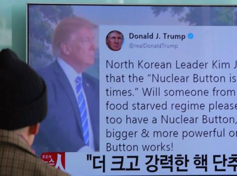 Imagen de Trump en una televisión