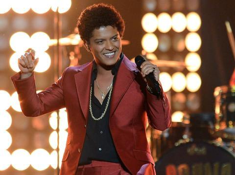 Bruno Mars, el gran triunfador de los Grammy