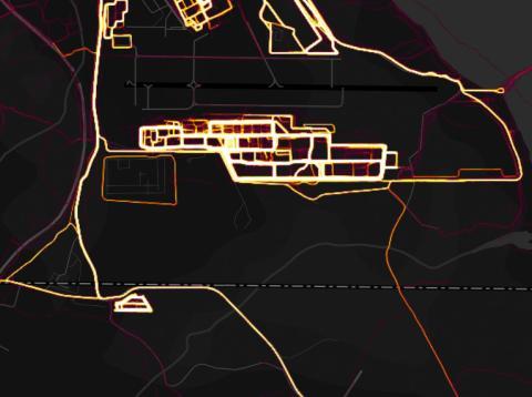 Mapa de Strava en Yibuti