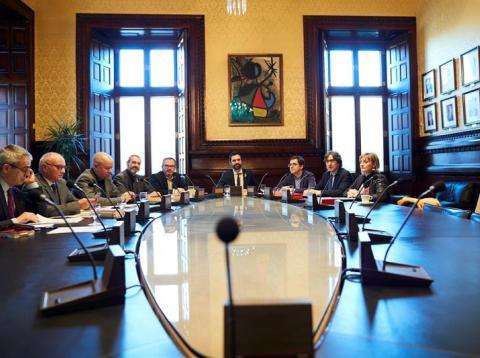 La Mesa del Parlament de Cataluña, reunida el 23/03/2018