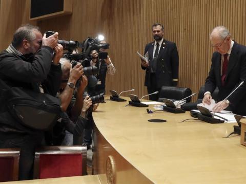 Rodrigo Rato, en su comparecencia en el Congreso de los Diputados