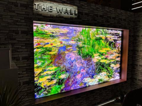 Nuevo modelo de televisión 'The Wall' en CES 2018