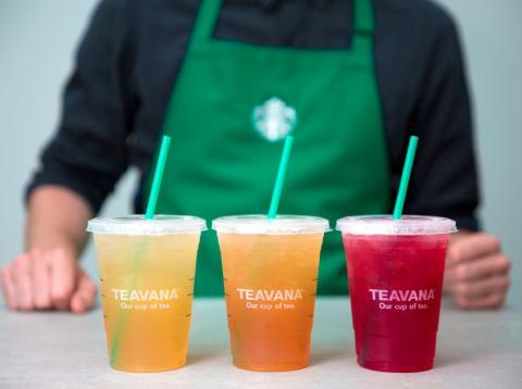 Vasos de Teavana en Starbucks