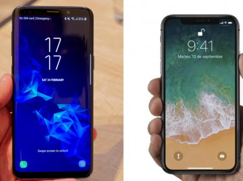 Galaxy S9 vs iPhone X