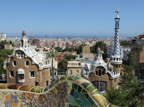 Una imagen del Parque Güell de Barcelona.