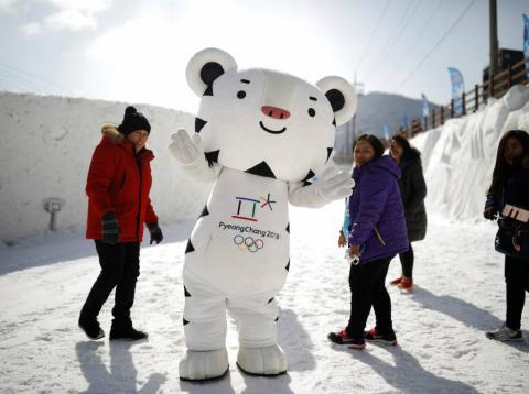 Mascota de los Juegos Olímpicos de Invierno 2018 en Corea del Sur